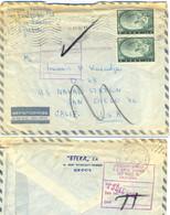 LETTRE GRECE 10 XII 62 => US-NAVAL STATION SAN DIEGO 36 CALIFORNIA - Verso 13 DEC 1962 + TàD SAN DIEGO CALIF. JAN 2 1963 - Greece