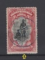 Congo-Belge. 1894. COB N° 28. Oblitéré. Cote COB 2018 : 52 € - 1894-1923 Mols: Oblitérés