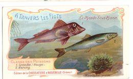 Chocolaterie D'Aiguebelle A Travers Les Flots Grondin Rouget Hareng (11cm X 6cm) - Aiguebelle