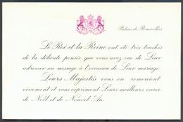 ROYAUTE 3Fr. Baudouin Et Fabiola Sur Enveloppe à En-tête Du Palais De Bruxelles, Avec Son Contenu (remerciement Pour Leu - Marcophilie