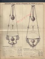 ANCIEN DEPLIANT PUBLICITAIRE GOULART PARIS RUE DE LA ROQUETTE ECLAIRAGE 4 PAGES : - Publicités