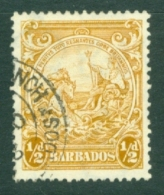 Barbados: 1938/47   Badge Of Colony    SG248c    ½d   Yellow-bistre      Used - Barbados (...-1966)