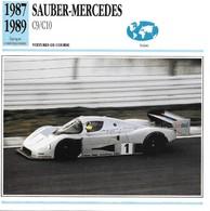Fiche Editions Atlas Automobile Voitures De Course Sauber Mercedes C9 C10 - Voitures