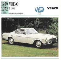 Fiche Editions Atlas Automobile Voitures Grand Tourisme Volvo P 1800S - Voitures
