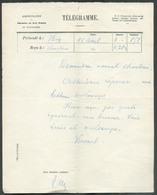 Télégramme (série G 7bis) Présenté à HUY 11 Avril Et Reçu à Charleroi -  12756 - Telegraph
