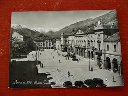 (FG.B39) AOSTA - PIAZZA CARLO ALBERTO Animata - Aosta
