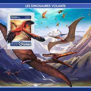 GUINEA 2017 - Flying Dinosaurs S/S. Official Issue - Prehistorisch