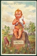 SUISSE - Künstlerkarte Friedensgesellschaft Schweiz Taube Grenze Nr. 1 - Illustrateurs & Photographes