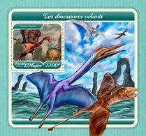 NIGER 2017 - Pterosaurs S/S. Official Issue - Prehistorisch