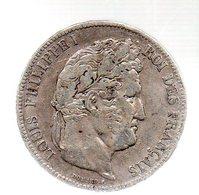 5 FRANCS LOUIS PHILIPPE I ROI DES FRANCAIS. 1839 W   --------------.TB - J. 5 Franchi