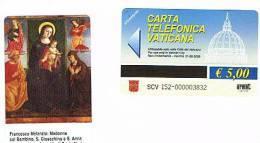VATICANO-VATICAN-VATICAN CITY  CAT. C&C     6152  -  MADONNA COL BAMBINO, S.GIOACCHINO E S.ANNA - F.MELANZIO - Vatican