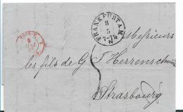 NDP077 / Norddeutscher Postbezirk, Frankfurt A,M. 1867 (Neustempel) Nach Frankreich - North German Conf.