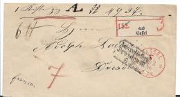 NDP076 / Norddeutscher Postbezirk, Paket Begleitbrief Mit Kassel F-Stempel Nach Dresden 1870 - North German Conf.