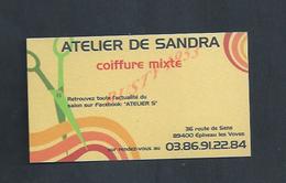 CDV CARTE DE VISITE COIFFURE MIXTE À EPINEAU LES VOVES : - Visiting Cards