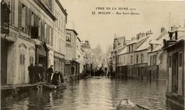 77 MELUN - Crue De La Seine 1910 - Rue Saint-Qiesne (erreur : Liesne) - ELD N° 11 - Etat Neuf - Melun