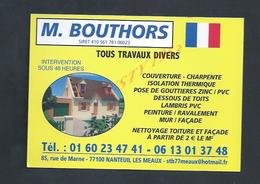CDV CARTE DE VISITE TOUS TRAVAUX DIVERS À NANTEUIL LES MEAUX : - Cartes De Visite