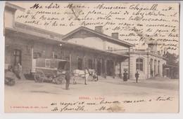 EPINAL (88) : LA GARE - FOURGON DE LIVRAISON - COMMISSIONNAIRE PUBLIC - ECRITE EN 1904 - 2 SCANS - - Epinal
