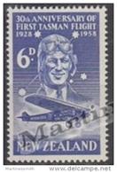 New Zealand - Nouvelle Zelande 1958 Yvert A-9 Airmail - 30th Anniversary Of First Tasman Flight - MNH - Nouvelle-Zélande
