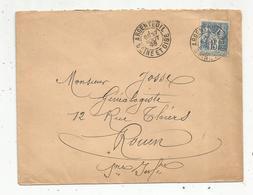 Lettre,  1898 , ARGENTEUIL , Seine Et Oise , 15 , Rouen, 2 Scans - Storia Postale