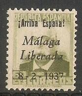 Malaga Edifil Nr. 9a - Nationalistische Ausgaben