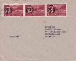 Lettre Roumanie România Imprimés Suisse Reinach Aargau Schweiz Michel Ier Roi De Roumanie Mihai I Al României - Marcofilia