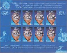 Russia, 2004, Mi. 1203, Sc. 6859, SG 7293, The 100th Anniv. Of Russian News Agency TASS, MNH - 1992-.... Federación
