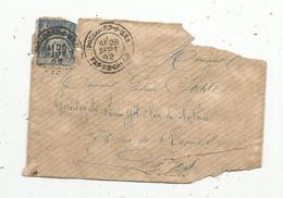 Lettre Partielle En 3 Morceaux,  1892 , BOULOGNE SUR MER ,15 - Storia Postale