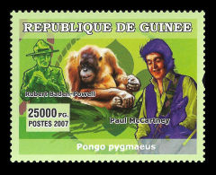 Guinee McCartney Beatles Music Singer Baden Powell Scout Scouting Stamp Mi:4783 - Non Classificati