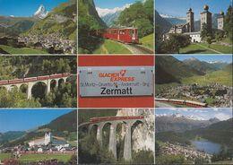 Schweiz - 3920 Zermatt - Glacier Express - Railway -Train - VS Valais