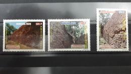 BURKINA FASO RUINES DE LOROPENI RUINS YT 1367/9 1367 1368 1369 TOURISME TOURISM HERITAGE - UNESCO - 2009 - RARE - MNH ** - Burkina Faso (1984-...)