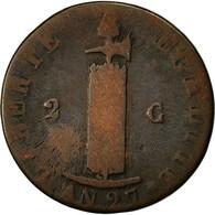 Monnaie, Haïti, 2 Centimes, 1830, B+, Cuivre, KM:A22 - Haïti