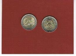 ITALIA  REPUBBLICA -   2012 -  2 EURO COMMEMORATIVI DECENNALE EURO - - Italy