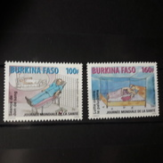 BURKINA FASO 2010 YT 1372/3 PALUDISME DON SANG JOURNEE MODIALE SANTE HEALTH WORLD DAY BLOOD GIVING PALUDISM RARE MNH ** - Burkina Faso (1984-...)