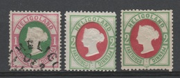 Allemagne - Heligoland - 1875 - Obl. & *  - Michel 11 - 12  Type II - Réimpression . - Héligoland