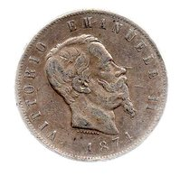 5 LIRE VICTOR EMMANUEL II.1874 M.-----------TB - 1861-1946 : Regno