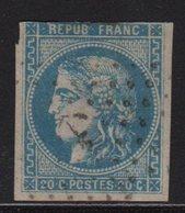 Ancre Sur 20c Bordeaux (aminci Mais Bel Aspect) - 1870 Emission De Bordeaux