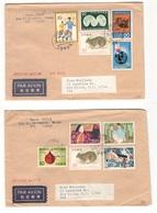Japan1973-4:Covers(4)complete ,undamaged Stamps And Envelopes - Briefe U. Dokumente