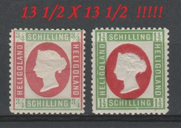 Allemagne - Heligoland - 1873 - * & ** - Michel 8-9 - FAUX - PAS Réimpression - 13 ½ X 13  ½. - Heligoland
