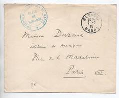 """1916 - ENVELOPPE FM De MOGADOR (MAROC) Avec CACHET """"TROUPES D'OCCUPATION DU MAROC / PLACE DE MOGADOR"""" - Storia Postale"""