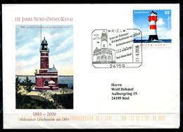 "Germany 2006 Sonderbeleg/Cover  Leuchttürme Mit Mi.Nr.2413 U.SST""Kiel-111 Jahre Nord-Ostsee-Kanal,Lightturm""1 Beleg - Leuchttürme"