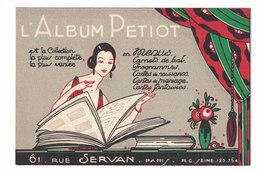 CARTOLINA PUBBLICITARIA CARTE POSTALE  ALBUM PETIOT - Pubblicitari