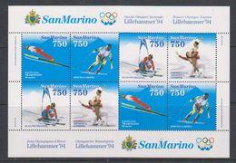 San Marino 1994 Olympic Wintergames Lillehammer M/s ** Mnh (38650) - Blokken & Velletjes