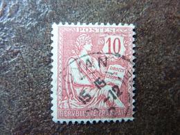 Mouchon 10c Rouge Y&T= 116  Oblitéré - 1900-02 Mouchon