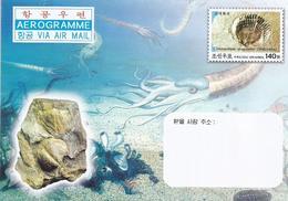North Korea 2004 Fossil Clinocardium Asagaiense Aerogramme - Fósiles