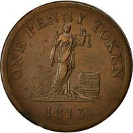 Monnaie, Grande-Bretagne, Phoenix, Iron-Works, Glasgow, Penny Token, 1813, TB+ - 1662-1816 : Anciennes Frappes Fin XVII° - Début XIX° S.