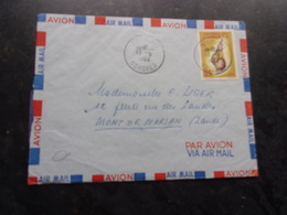 COMORES (1964) Lettre DZAOUDZI A MONT DE MARSAN - Comoro Islands (1950-1975)