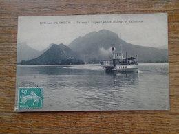 Lac D'annecy , Bateau à Vapeur Entre Duing Et Talloires - Autres Communes