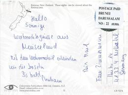 Brunei Postage Paid Permit No. 22 New Zealand Viewcard - Brunei (1984-...)