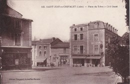 SAINT-JUST-en-CHEVALET - Place Du Trève - Coté Ouest - Hôtel - Économats Du Centre - Patisserie - Très Bon état RARE - Francia