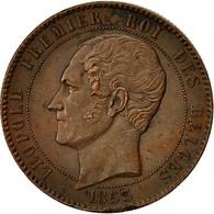 Monnaie, Belgique, 10 Centimes, 1853, TTB, Cuivre, KM:1.1 - 1831-1865: Léopold I